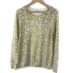Tops - Gap animal gray and yellow lightweight sweater med